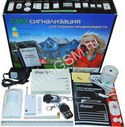 Беспроводные охранно-пожарные сигнализации GSM для дома,  гаража,  офиса