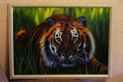 продам картину с животным тигр