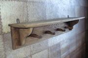 Старинная настенная вешалка-полка в прихожую