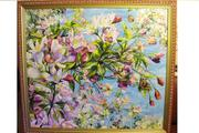 картина яблоня в цвету
