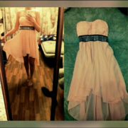 летнее розовое платье