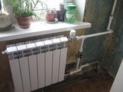 Монтаж радиаторов отопления.Замена труб водоснабжения