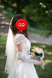 Свадебное платье + перчатки + подъюбник