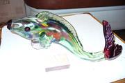 Продам статуэтку рыба цветное стекло СССР